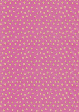 Khaki on Pink Polka Dot Paper