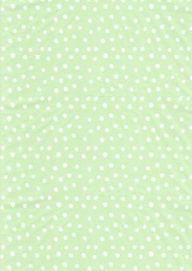 White on Pale Green Polka Dot Paper
