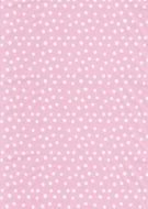 White on Pink Random Polka Dot Paper
