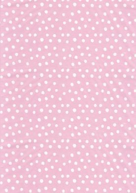 White on Pink Random Polka Dot Paper