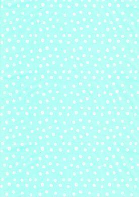 White on Turquoise Polka Dot Paper