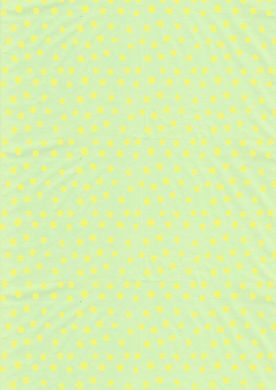 Yellow on Green Polka Dot Paper