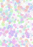 Big Flower Scatter Pastel