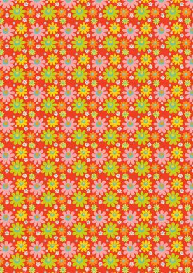 Hot Flowers Background Paper