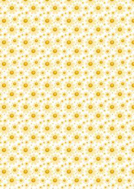 Yellow Daisy Background Paper