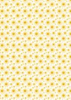 Yellow Daisy Background Paper