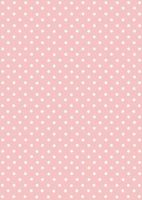 White on Pink Polka Dot Paper
