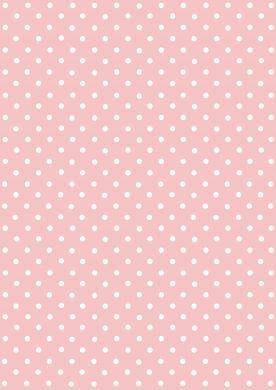 White on Pink Polka Dot Paper