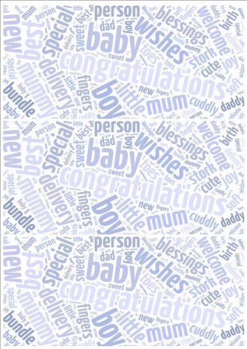Baby Boy Word Cloud Paper