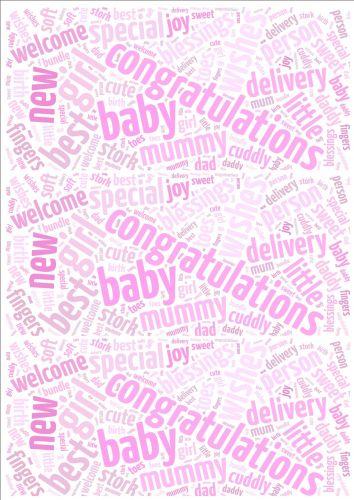 Baby Girl Word Cloud Paper