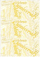 Golden Wedding Anniversary Word Cloud Paper