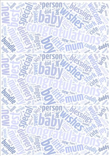 Baby Boy Word Cloud Paper