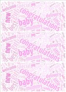 Baby Girl Word Cloud Paper