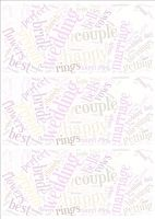 Wedding Word Cloud Paper