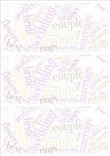 Wedding Word Cloud Paper