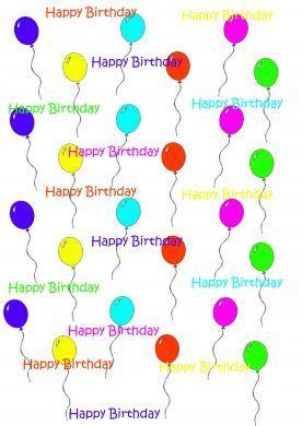 Birthday Balloons Paper