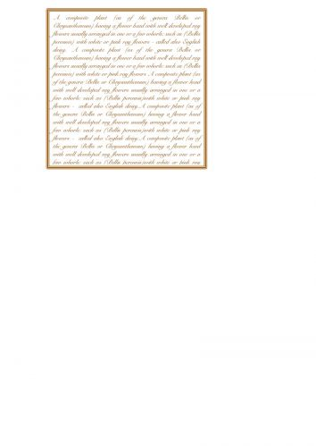 Botanical Script
