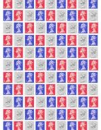Patriotic Stamps Background Paper