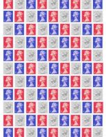 Patriotic Stamps Background Paper