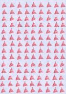 Red Christmas Trees Paper
