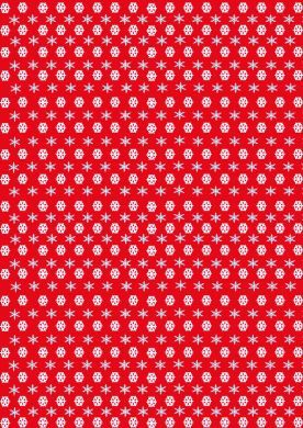 Snowflake Red and Blue Paper