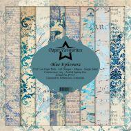 Blue Ephemera 15cm x 15cm Paper Pad