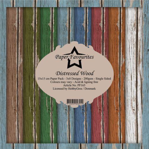 Dixi Craft Distressed Wood 6 x 6 Paper Pad