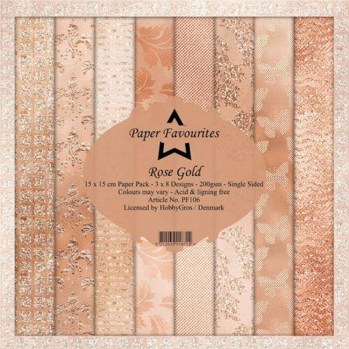 Rose Gold 15cm x 15cm Paper Pad