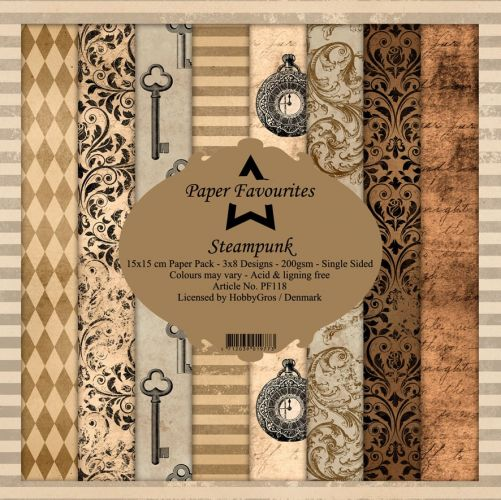 Steampunk 15cm x 15cm Paper Pad