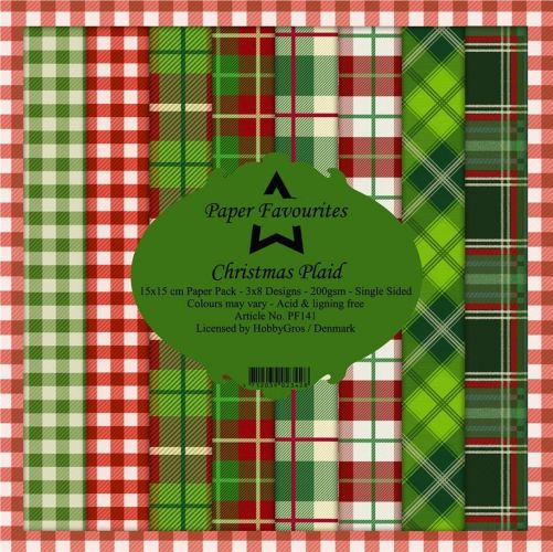 Christmas Tartan Plaid 6 x 6 Paper Pad