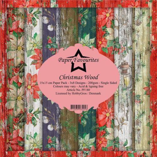 Christmas Wood 6 x 6 Paper Pad