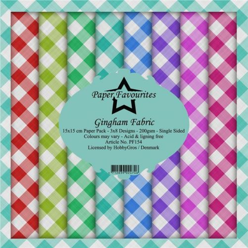 Paper Favourites Gingham Fabric 6 x 6 Paper Pad
