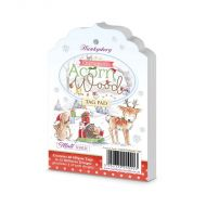 Christmas in Acorn Wood Tag Pad