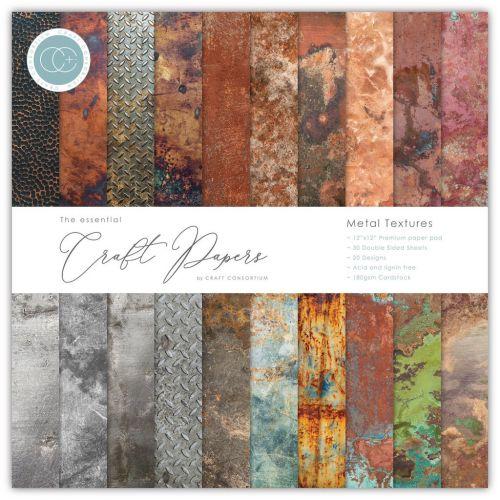 Metal Textures 6 x 6 Paper Pad