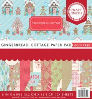 Gingerbread Cottage 6 x 6 Christmas Paper Pad