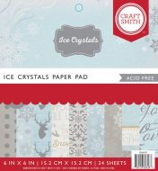 Ice Crystals 6 x 6 inch Christmas Paper Pad