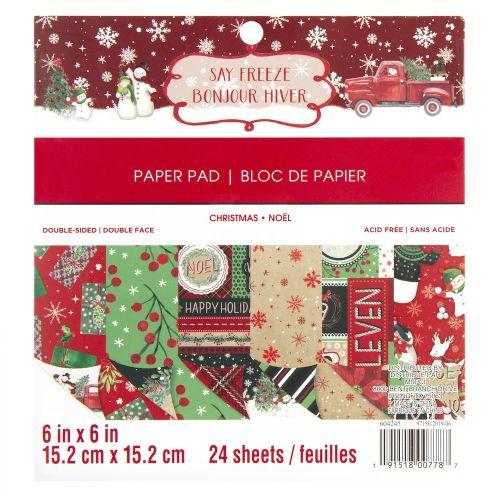 Say Freeze Christmas 6 x 6 Paper Pad