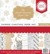 Shimmer Christmas 6 x 6 Inch Paper Pad