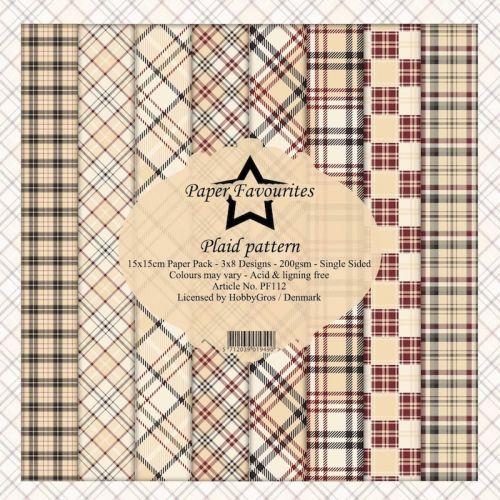 Tartan Plaid Pattern 6 x 6 Paper Pad (OUT OF STOCK)