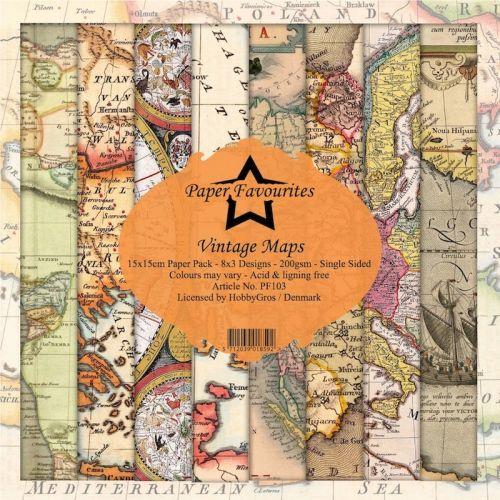 Vintage Maps 6 x 6 Paper Pad