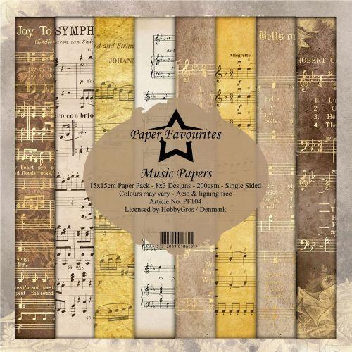Vintage Music 6 x 6 Paper Pad