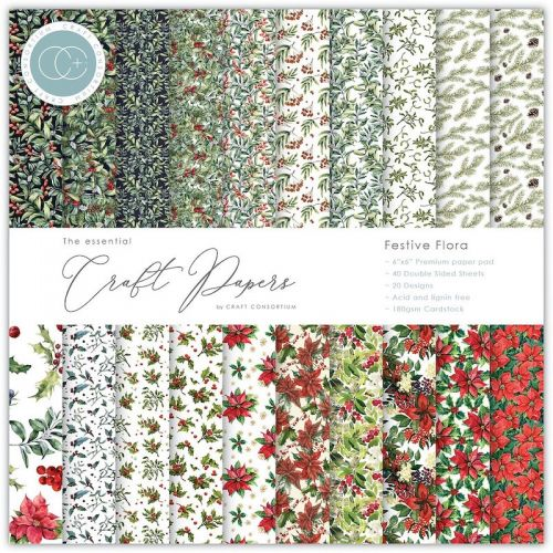 Festive Flora 6 x 6 Christmas Paper Pad