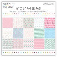 Simply Creative 6 x 6 Paper Pad Make a Wish