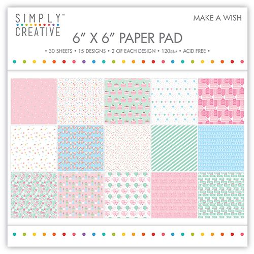Simply Creative 6 x 6 Paper Pad Make a Wish