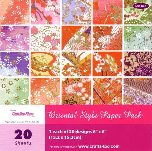 6 x 6 Oriental Paper Pad