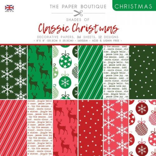 Shades Of Classic Christmas 8 x 8 Patterned Paper Pad
