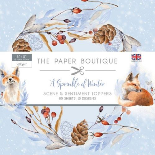 A Sprinkle of Winter Scene and Sentiment Card Toppers (OUT OF STOCK)