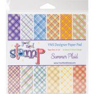 Summer Plaid 6 x 6 Paper Pad