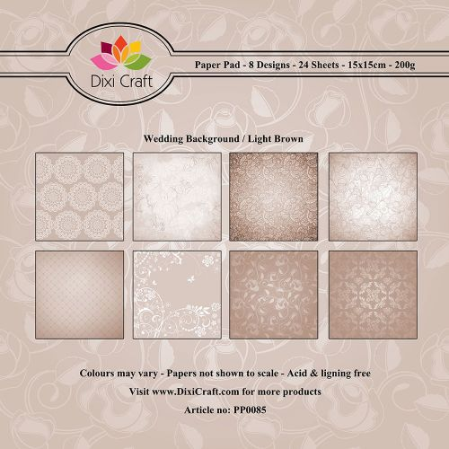 Wedding Background 6 x 6 Paper Pad (OUT OF STOCK)