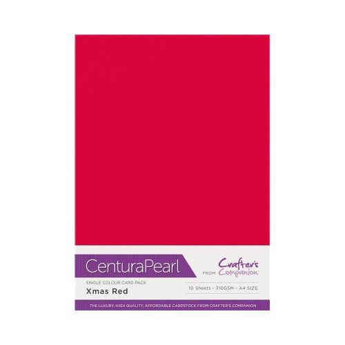 Centura Pearl 10 Sheet Card Pack Christmas Red